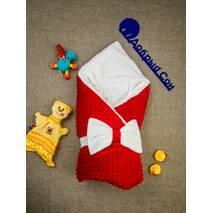 Конверт-одеяло плюш Minki+махра ПЛЮС Dobryi Son Красный