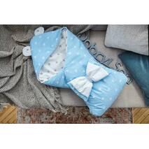 Конверт-одеяло для малыша Dobryi Son Капюшон с ушками Мишки 100х80 см