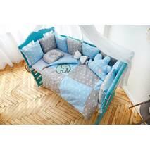 Комплект постельного белья Облачко Серо-голубой