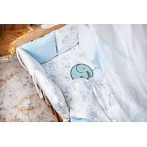 Комплект постільної білизни для новонароджених із защитой-бортиками Верона Блакитний ведмедик