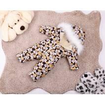 Комбінезон дитячий зимовий на овчині Natalie Look Ведмедик в сорочці 104-110 см бежево-коричневий