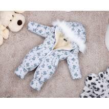 Комбинезон детский зимний на овчине Natalie Look Boy 86-92 см светло-серый