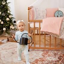 Комплект постільної білизни для новонароджених із защитой-бортиками Верона - 2Фламинго