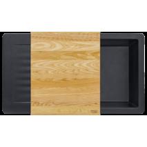 Кухонная мойка KERNAU KGS F 6089 1B1D BLACK METALLIC