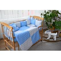 Комплект постельного белья Облачко Бело-голубой звёзды