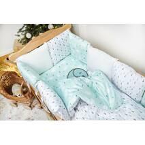 Комплект постільної білизни для новонароджених із защитой-бортиками Верона - 2 Ялиночки