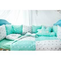 Комплект постельного белья Облачко Мятно-белый