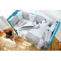 Комплект постельного белья Облачко Серо-белый