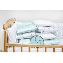 Бортики-защита в ліжечко з сатину Верона - 2 Ялиночки Dobryi son