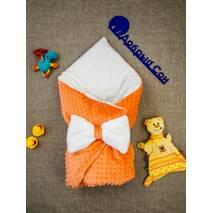 Конверт-одеяло плюш Minki+махра ПЛЮС Dobryi Son Морковный
