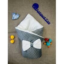 Конверт-одеяло плюш Minki+махра ПЛЮС Dobryi Son Серый