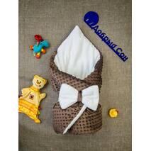 Конверт-одеяло плюш Minki+махра ПЛЮС Dobryi Son Шоколад