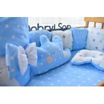 Комплект постельного белья Облачко Бело-голубой большие звёзды