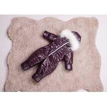 Комбінезон дитячий зимовий на овчині Natalie Look Уни 98-104 см бордовий