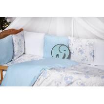 Комплект постільної білизни для новонароджених із защитой-бортиками Верона - 2 Блакитний ведмедик