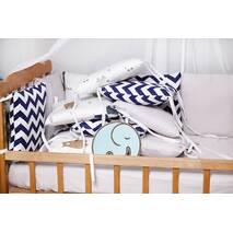 Бортики-защита в ліжечко з сатину Верона - 2 Ведмедик зигзаг Dobryi son