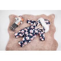 Комбинезон детский зимний на овчине Natalie Look Фиалки 116-122 см