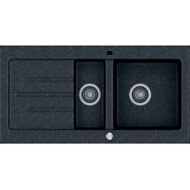 Кухонная мойка KERNAU KGS V 60 1,5B1D BLACK METALLIC