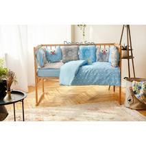 Комплект постельного белья для новорождённых Совушки 9-01 Для мальчиков 60х120 см серо-голубой