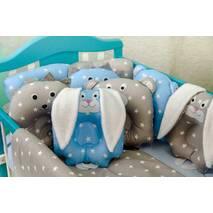 Комплект постельного белья для новорождённых Лесные зверята 09-02