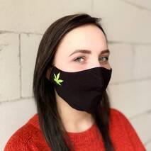 "Захисна маска для обличчя ""Leaf"" чорна 1 шт"
