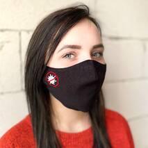 """Захисна маска для обличчя """"Stop"""" чорна"""