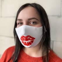 """Захисна маска для обличчя """"Kiss"""" біла"""