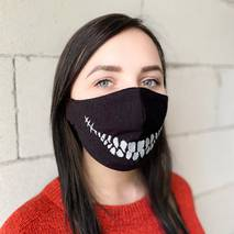 "Захисна маска для обличчя ""Death Smile"" чорна"