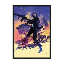 """Постер """"Джон Уик Pop art"""". із склом антивідблиску  297x420 мм в чорній рамці"""