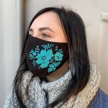 "Захисна маска для обличчя ""Flowery"" 1 шт."
