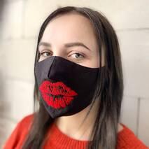 """Захисна маска для обличчя """"Kiss"""" чорна"""