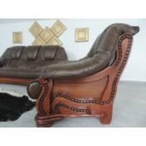 Кожаный комплект мебели на дубе ALFA 3+1+1