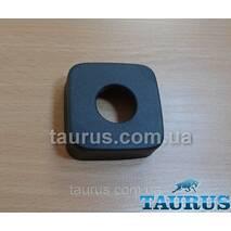 """Великий квадратний декоративний чорний фланець CUBE 60x60х20 black d25 мм (3/4"""") чашка, розета. TAURUS"""