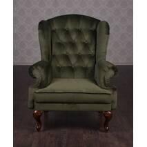 Кожаное классическое кресло Терри для кабинета, офиса, библиотеки