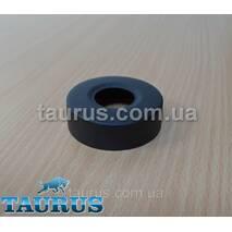 """Круглый чёрный объёмный фланец D60 / высота 20 мм black из нержавеющей стали, внутренний размер 3/4"""" (D25 мм)"""