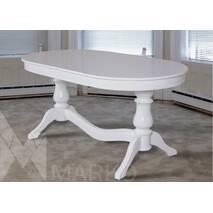 Раскладной овальный стол Эдельвейс из массива дерева
