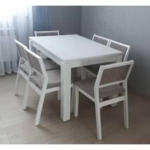 Белый кухонный гарнитур Марко со стульями массив бука