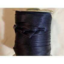 Косая бейка атласная, (темно-синего   цвета)1.5см