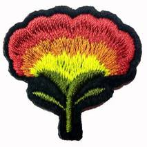 Термоаплікація клейова   ''Троянда 1 бутон червоно-жовта''
