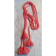 Пояс шнурок шерстяной,  розовый нежный