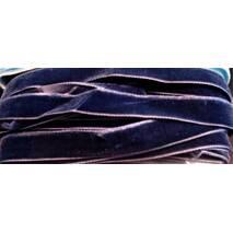 Тасьма велюрова, ширина 1.5 см темно-синього   кольору
