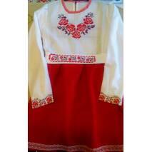 Платье вышитое для девочки  ''Пять роз'' (машинная   вышивка)