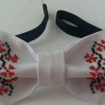 Бабочка-галстук  вышивка   бисером