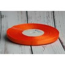 Лента  атласная оранжевая   6мм