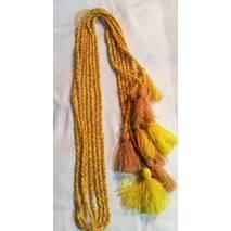 Пояс шнурок шерстяной,  желто-телесный