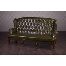 Кожаный диван Терри для кабинета