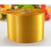 Лента  атласная  золотистая  5 см