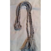 Пояс шнурок шерстяной, серый