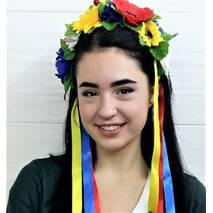 Веночек украинский ''Полевые цветы''(большие цветы)