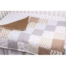 Детское теплое одеяло в коричневых тонах